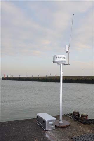 Stationäre Navibox für die eMIR Referenzstrecke im Hafen von Wilhelmshaven